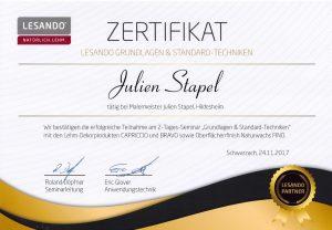 Lesando Zertifikat