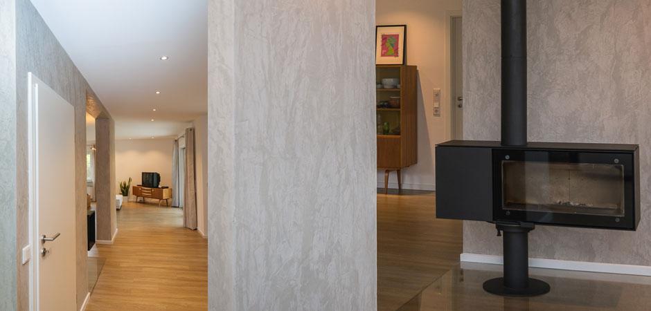 Marmorputz im Wohnzimmer